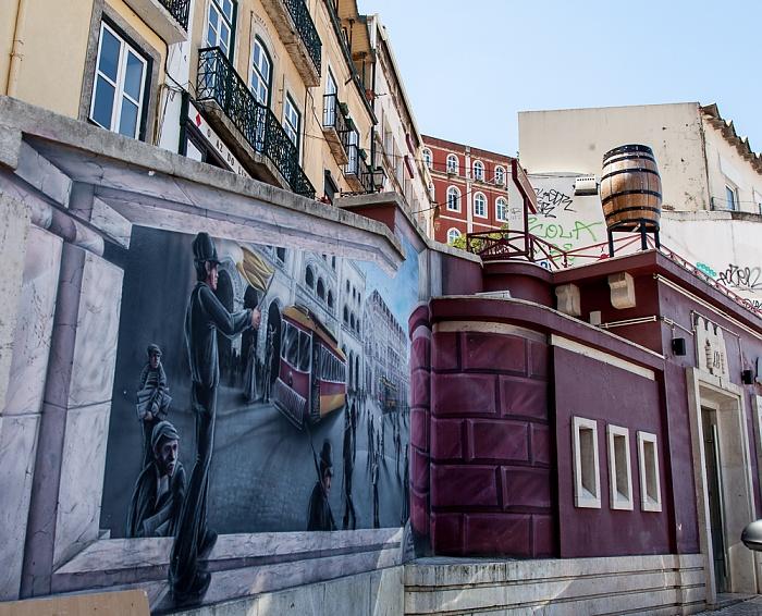 Baixa: Calçada do Carmo Lissabon