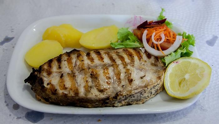 Baixa: Restaurante da Calçada (Santa Justa) - Gegrillter Fisch Lissabon