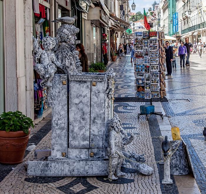 Baixa: Rua Augusta - Straßenkünstler Lissabon