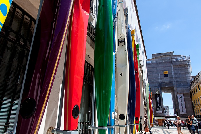 Baixa: Rua Augusta - Museu do Design e da Moda und der Arco da Rua Augusta Lissabon