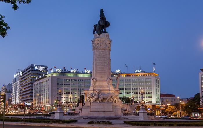 Praça Marquês de Pombal: Statue des Marquês de Pombal Lissabon 2013