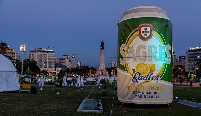 Parque Eduardo VII: Werbung für Sagres Radler Lissabon