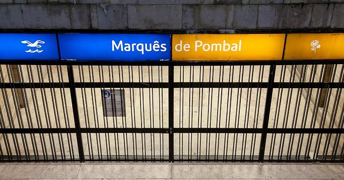 Estação Marquês de Pombal (geschlossen wegen Metro-Streik) Lissabon