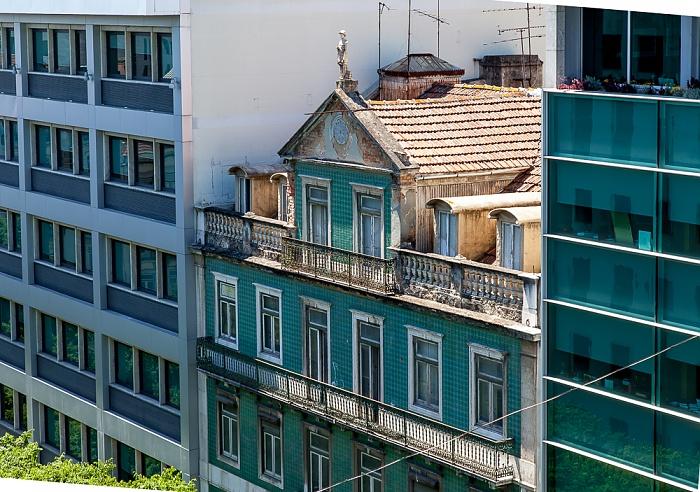 Blick aus dem Hotel Turim Av. Liberdade: Rua Duque de Palmela Lissabon