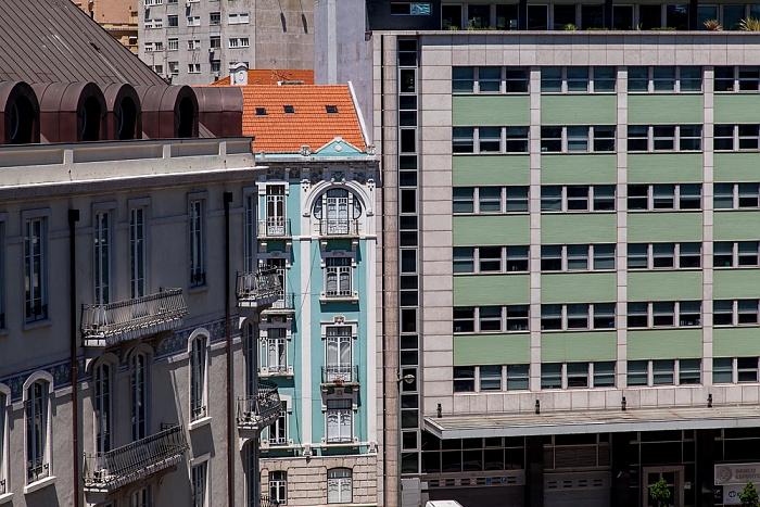 Blick aus dem Hotel Turim Av. Liberdade: Rua Duque de Palmela / Rua Braamcamp Lissabon