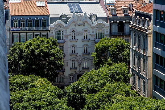 Lissabon Blick aus dem Hotel Turim Av. Liberdade: Rua Duque de Palmela / Rua Alexandre Herculano