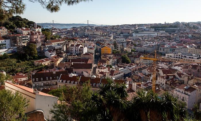 Blick vom Miradouro da Graça: Baixa, Bairro Alto Lissabon