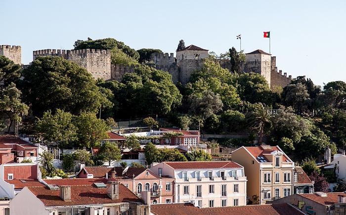 Blick vom Miradouro da Graça: Castelo de São Jorge Lissabon