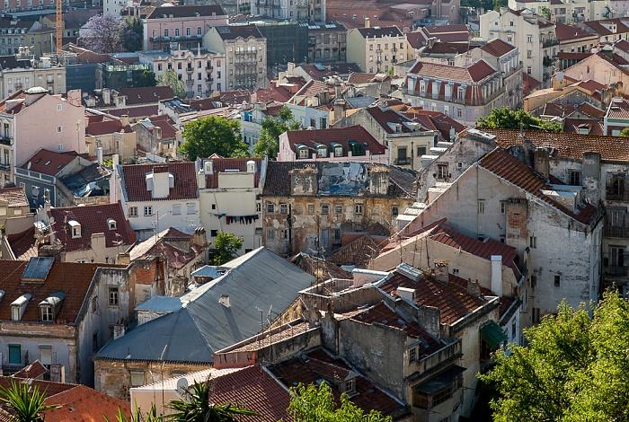 Blick vom Miradouro da Graça: Baixa Lissabon