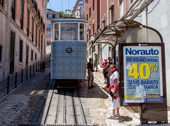 Baixa: Praça dos Restauradores / Calçada da Glória - Elevador da Glória Lissabon