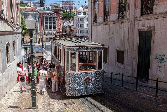 Baixa: Calçada da Glória, Praça dos Restauradores - Elevador da Glória Lissabon