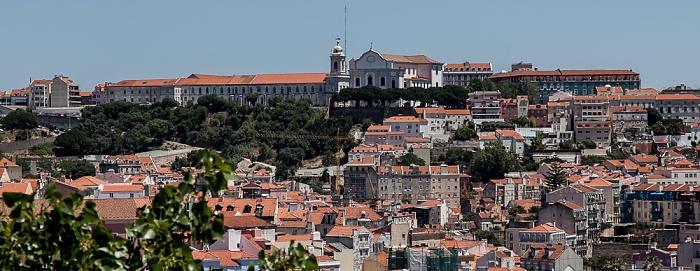 Blick vom Miradouro de São Pedro de Alcântara: Convento da Graça mit der Igreja da Graça Lissabon 2013