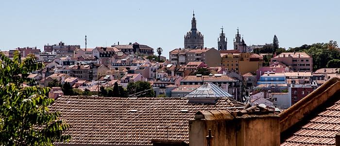 Lissabon Blick vom Praça do Príncipe Real: Estrela mit der Basílica da Estrela