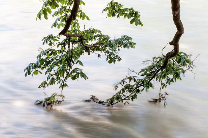 München Isar mit Hochwasser