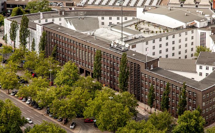 Blick vom Funkturm: Haus des Rundfunks Berlin