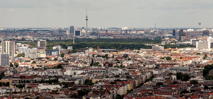 Blick vom Funkturm: Charlottenburg (links) / Wilmersdorf Berlin 2013