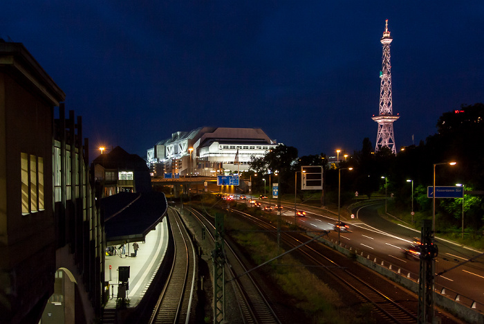 Westend: S-Bahnhof Messe Nord/ICC (Witzleben), Internationales Congress Centrum (ICC), Funkturm Berlin 2013