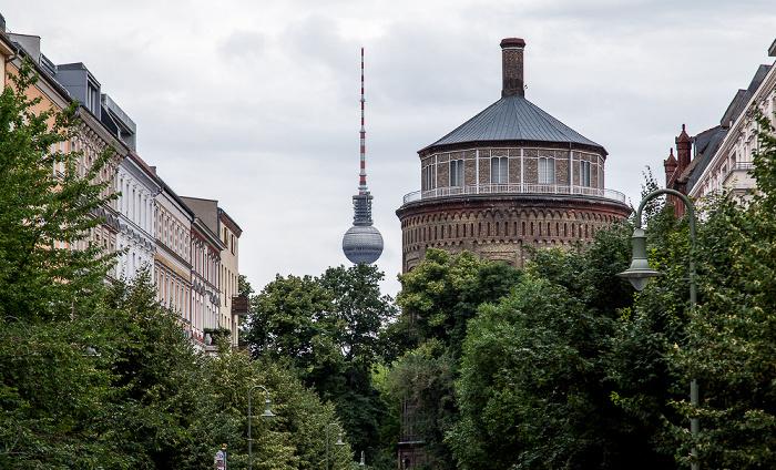 Berlin Prenzlauer Berg: Wasserturm Prenzlauer Berg Fernsehturm
