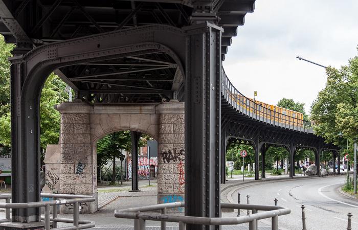 Kreuzberg: Oberbaumstraße - Viadukt der Linie U1 Berlin