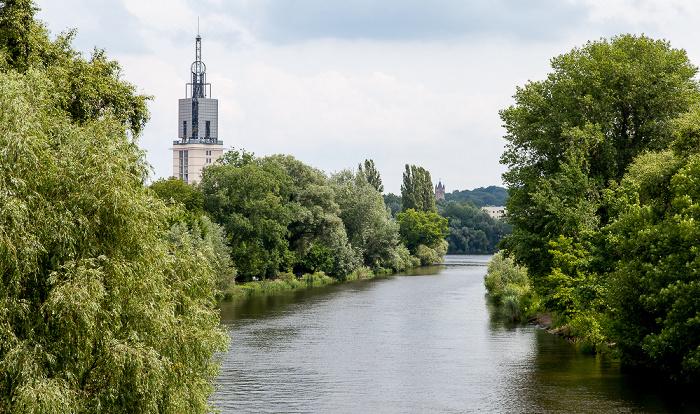 Potsdam Havel Ehem. Heilige-Geist-Kirche Flatowturm Freundschaftsinsel Park Babelsberg