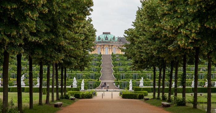 Potsdam Park Sanssouci: Weinbergterrassen, Schloss Sanssouci Schloß Sanssouci