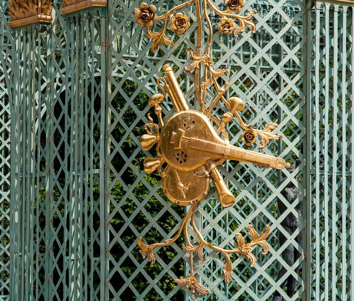 Potsdam Park Sanssouci: Schloss Sanssouci - Östlicher Gitterpavillon Schloß Sanssouci