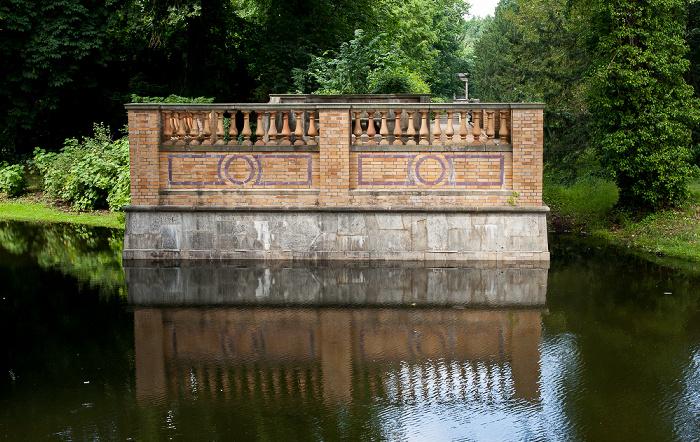 Potsdam Park Sanssouci: Friedensteich - Blick von der Friedenskirche