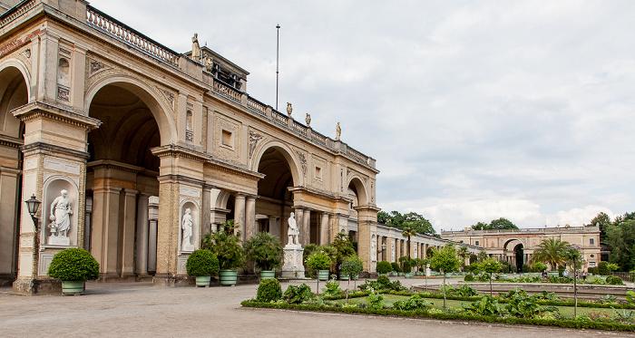 Potsdam Park Sanssouci: Orangerieschloss (Neue Orangerie), Obere Terassenebne