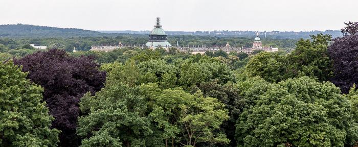Potsdam Park Sanssouci: Orangerieschloss (Neue Orangerie) - Blick von der Turmgalerie Bildergalerie Schloß Sanssouci