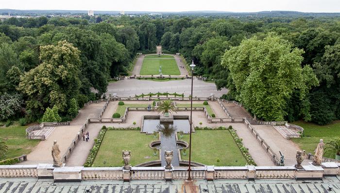 Potsdam Park Sanssouci: Orangerieschloss (Neue Orangerie) - Blick von der Turmgalerie