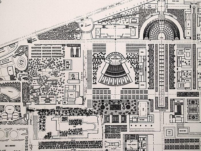 Neapel Arena Flegrea: Plan von 1937