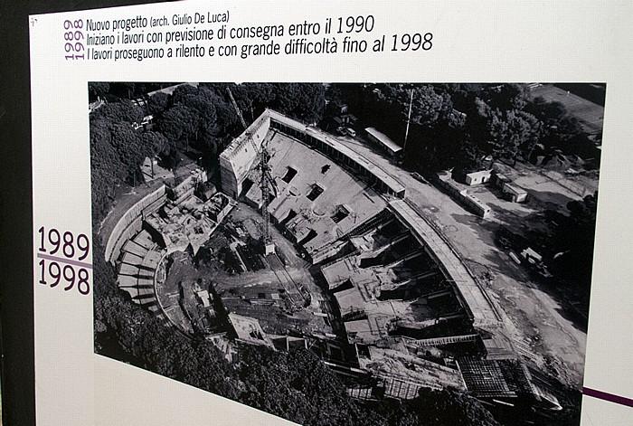 Neapel Arena Flegrea: Bild vom Umbau (zwischen 1989 und 1998)