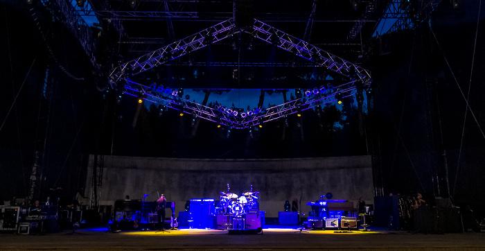Arena Flegrea: Bühne von Mark Knopfler Neapel