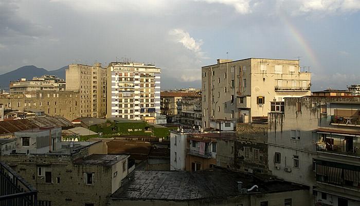 Neapel Blick aus dem Hotel Mercure Napoli Garibaldi Vesuv