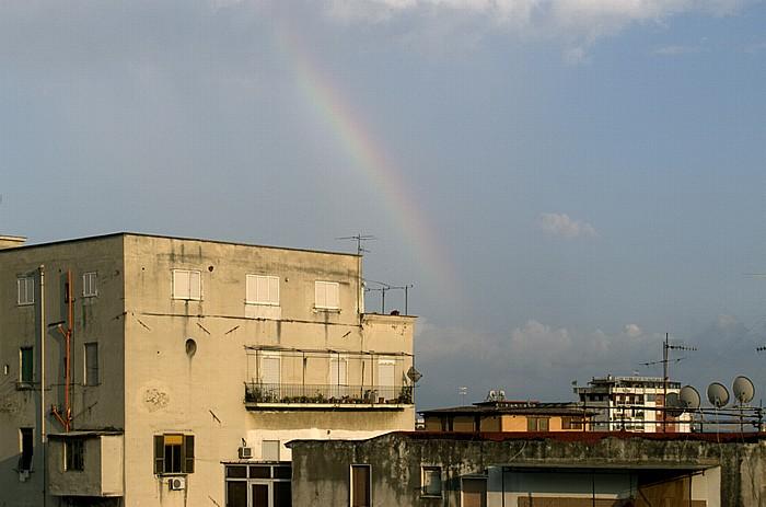 Neapel Blick aus dem Hotel Mercure Napoli Garibaldi