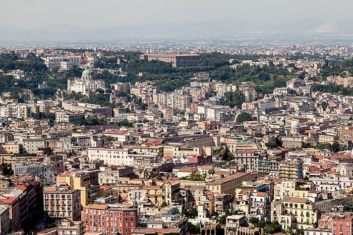 Neapel Blick vom Castel Sant' Elmo Basilica dell' Incoronata Madre del Buon Consiglio Museo e Gallerie Nazionali di Capodimonte