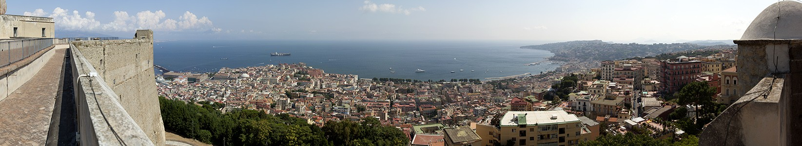 Blick vom Castel Sant' Elmo: Neapel, Golf von Neapel Neapel