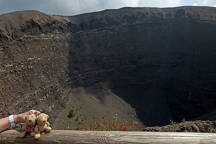Nationalpark Vesuv (Parco nazionale del Vesuvio): Krater - Teddine und Teddy