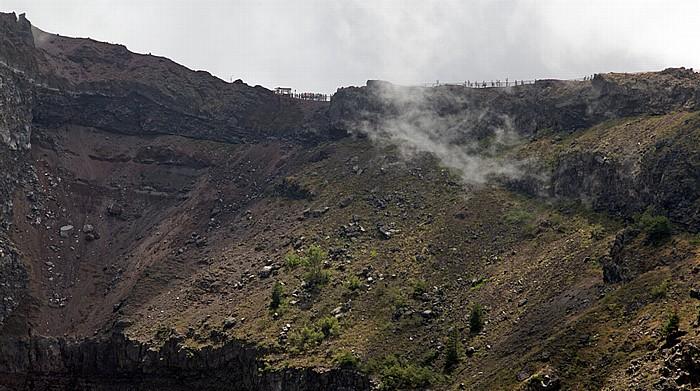 Nationalpark Vesuv (Parco nazionale del Vesuvio): Kraterrand