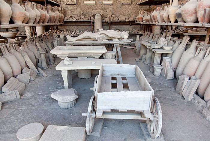 Pompeji Ausgrabungsstücke