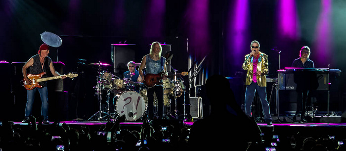 Ippodromo delle Capannelle (Rock in Roma): Deep Purple Rom Roger Glover, Ian Paice, Steve Morse, Ian Gillan, Don Airey
