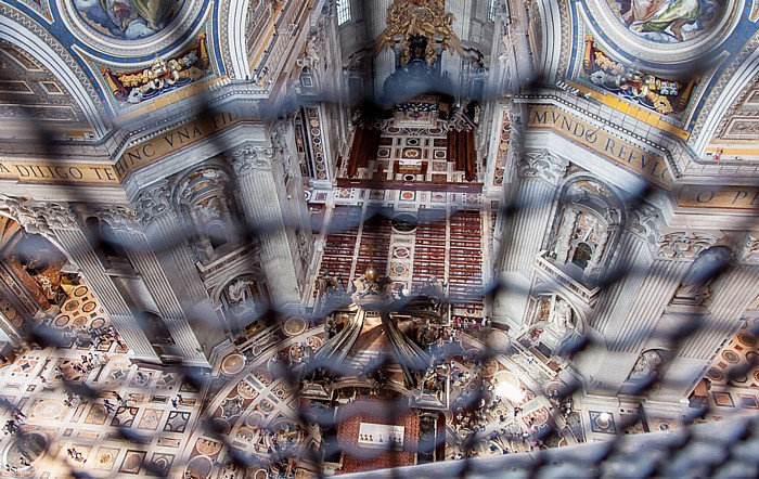 Vatikan Petersdom: Blick aus der Kuppel