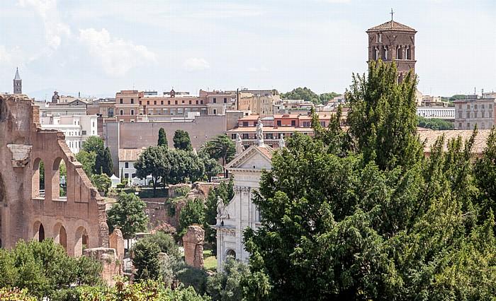 Blick vom Palatin: Santa Francesca Romana Basilica di Santa Maria Maggiore