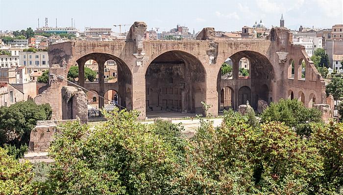 Rom Blick vom Palatin: Maxentiusbasilika Basilica di Santa Maria Maggiore