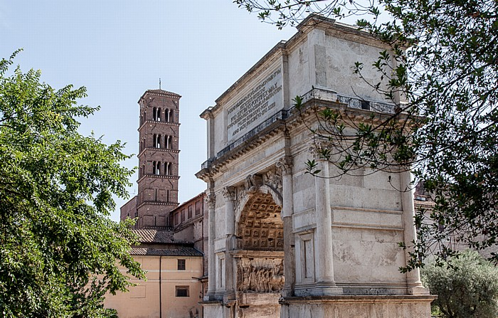 Forum Romanum: Titusbogen Santa Francesca Romana
