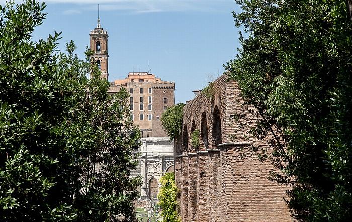 Forum Romanum Kapitol Maxentiusbasilika Senatorenpalast Septimius-Severus-Bogen