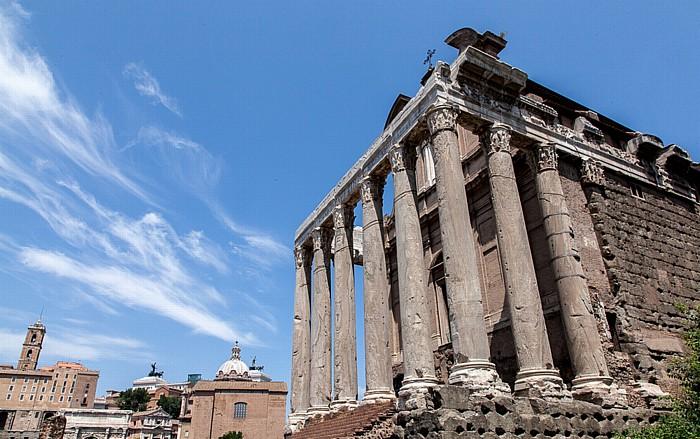 Forum Romanum: Tempel des Antonius und der Faustina