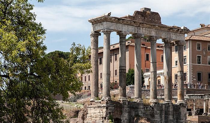 Forum Romanum: Tempel des Saturn Rom