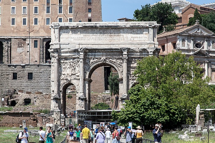 Forum Romanum: Septimius-Severus-Bogen Rom