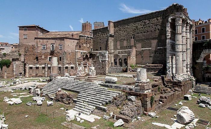 Augustusforum: Tempels des Mars Ultor Rom
